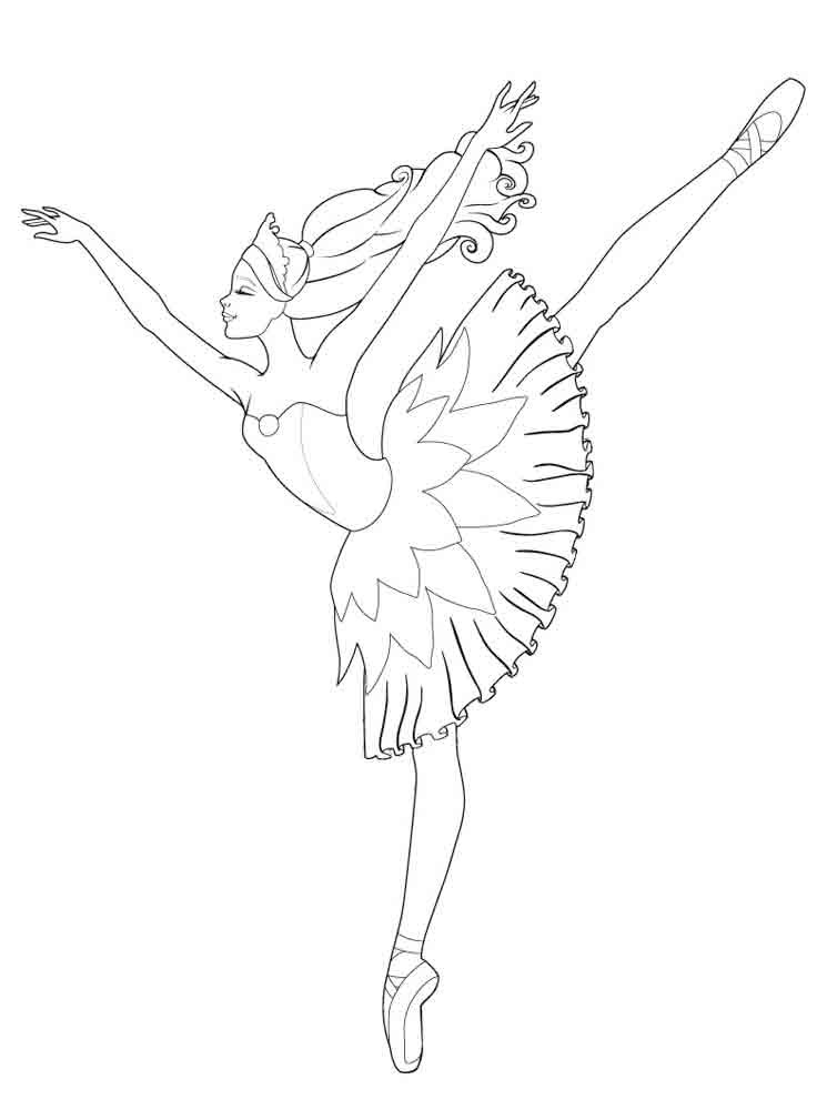 ballerina coloring sheets - Ballerina Coloring Pages Kids