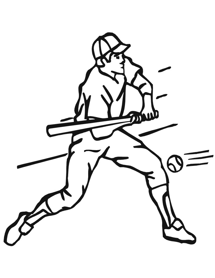 Free baseball font with tail sketch coloring page for Softball coloring pages to print