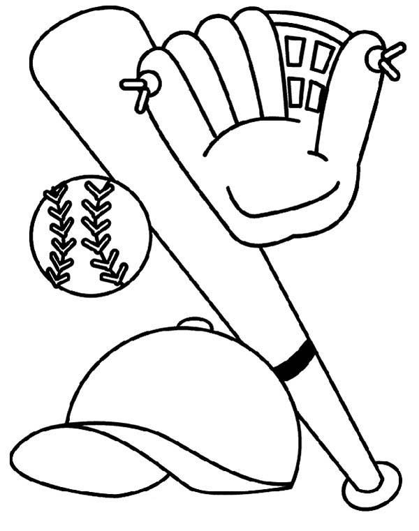 baseball coloring sheets