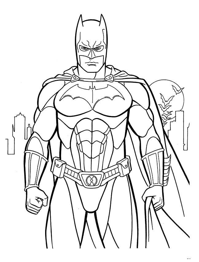 Printable Batman Coloring Pages Coloring Me