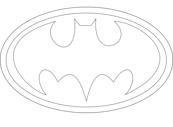 coloring pages batman printable logo - photo#13