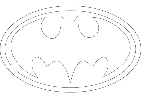 Printable Batman Logo Coloring Pages | Coloring Pages