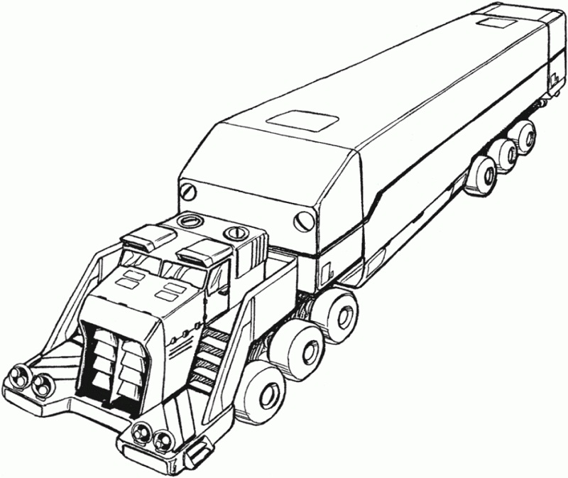 big truck printables coloring pages - photo#8