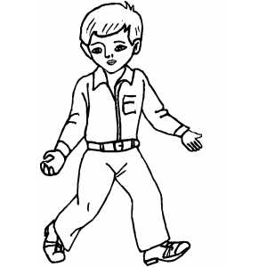 boy coloring sheets - Picture Of A Boy To Color