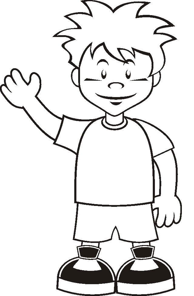 Printable Boy Coloring Pages Coloring Me
