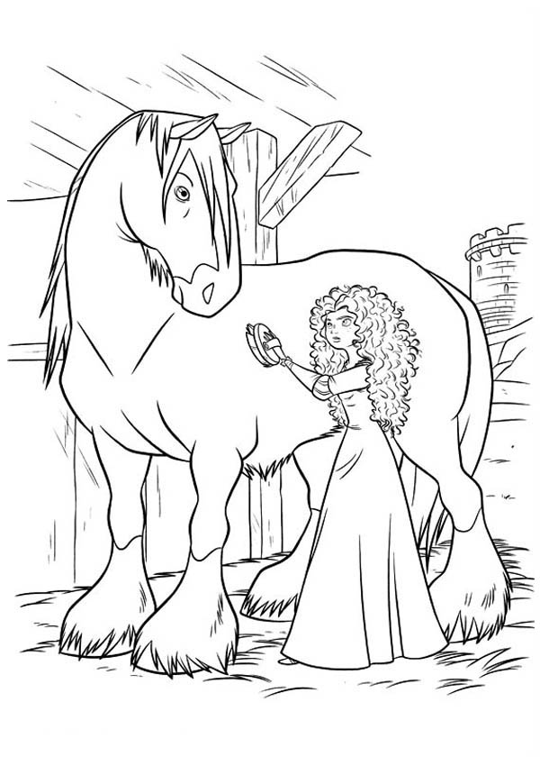 Printable Brave Coloring Pages