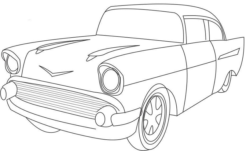 Antique Car Coloring Pages : Coloring pages vintage cars car colouring page