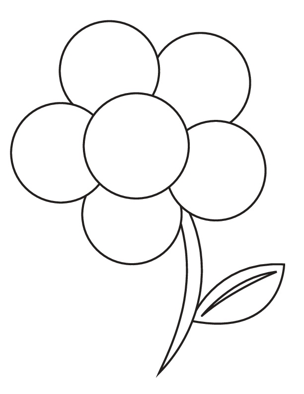 flowers coloring sheets - Flower Coloring Page