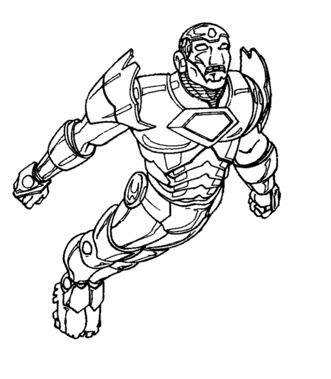 Iron Man Coloring Sheets