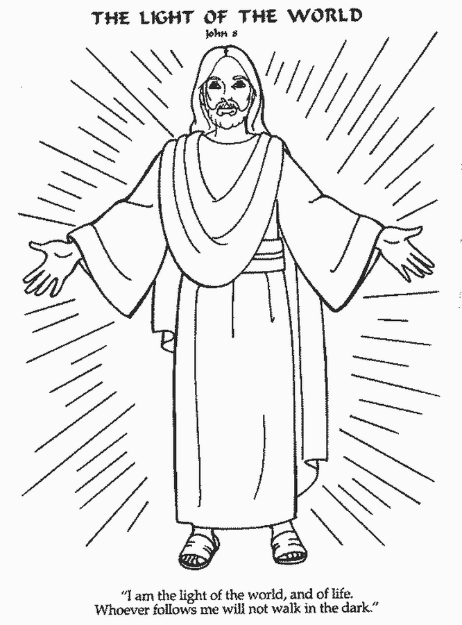 jesus bible story coloring pages - photo#34