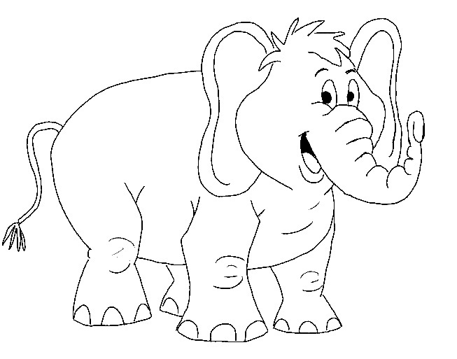 elephant ear coloring page gallery