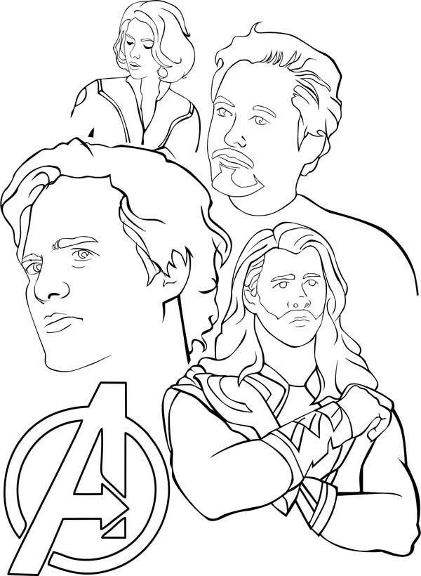 printable avengers coloring pages coloring me