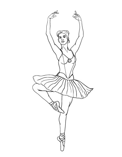 ballerina coloring pages free - photo#29