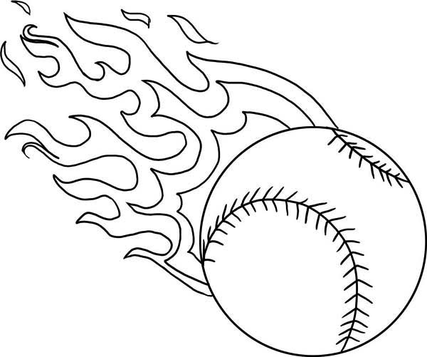 softball coloring book pages