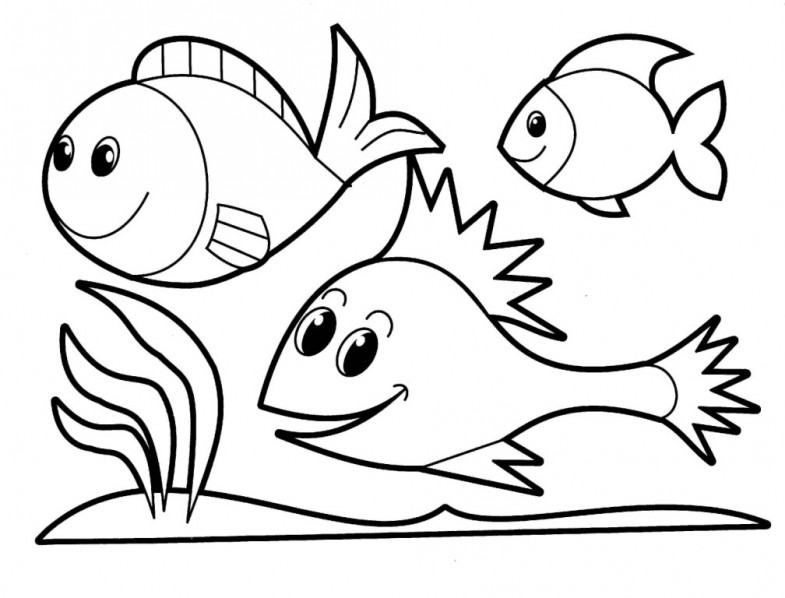 Easy coloring page fish - Topcoloringpages.net | 598x785