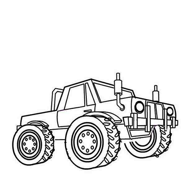 big monster truck coloring pages sketch coloring page