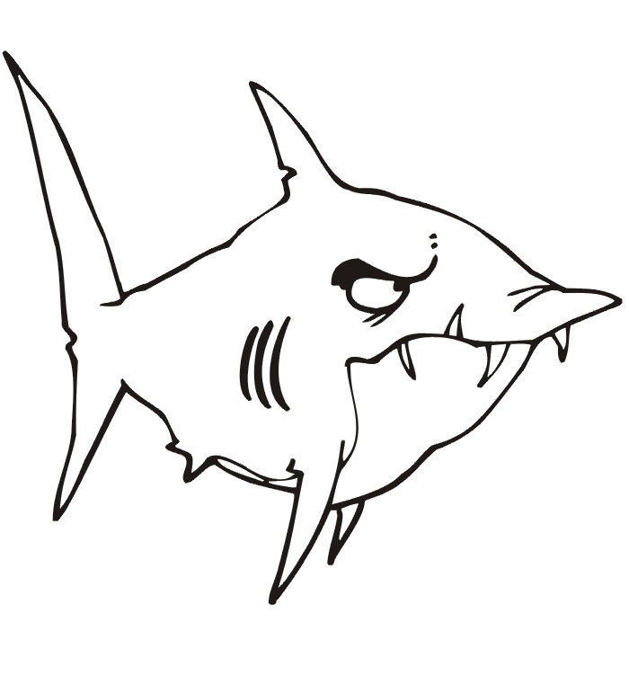 sharks coloring pages - photo#32