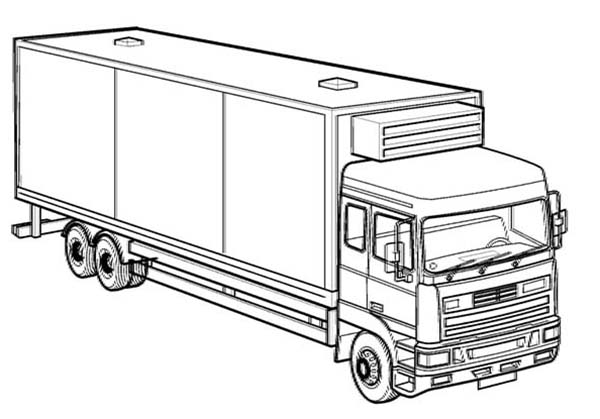 Printable Truck Coloring Pages Coloring Me Truck Coloring Pages For