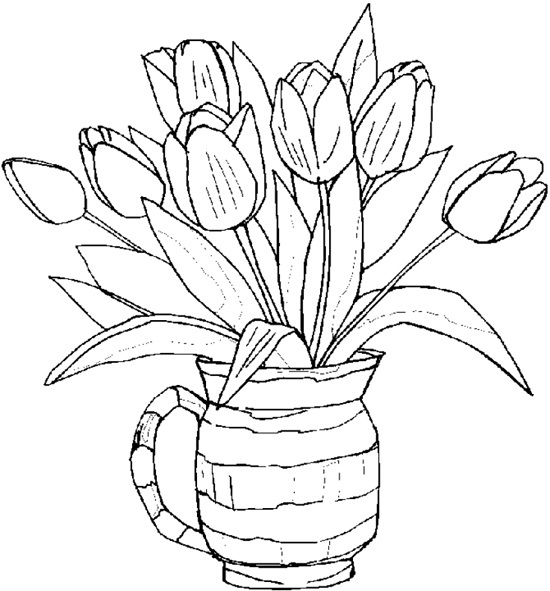 63 Top Coloring Pages Printables Flowers For Adults Pictures