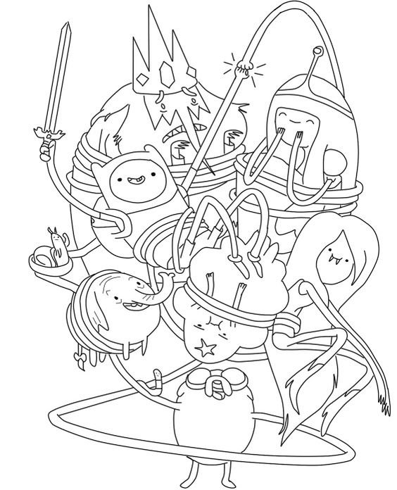 adventure time characters coloring pages - photo#3