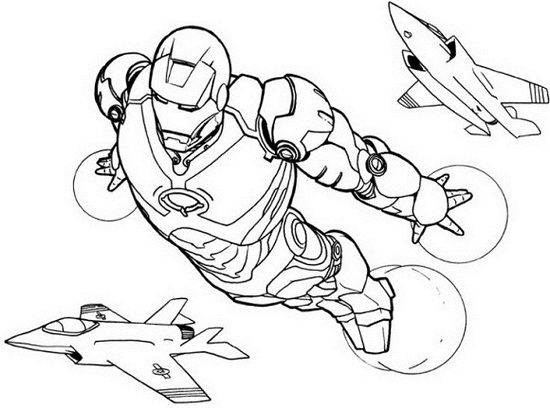 printable iron man coloring pages me
