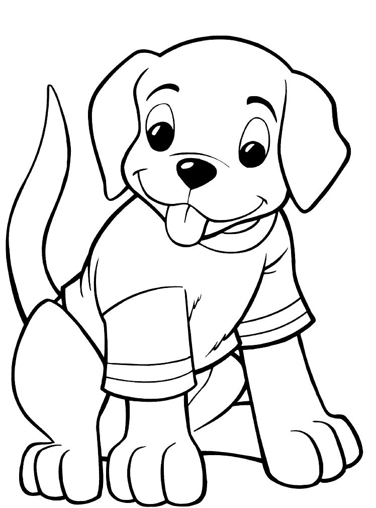 puppy coloring sheets - Puppy Coloring Pages