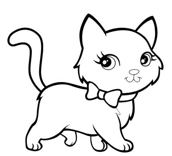cat coloring sheets cat black white coloring page