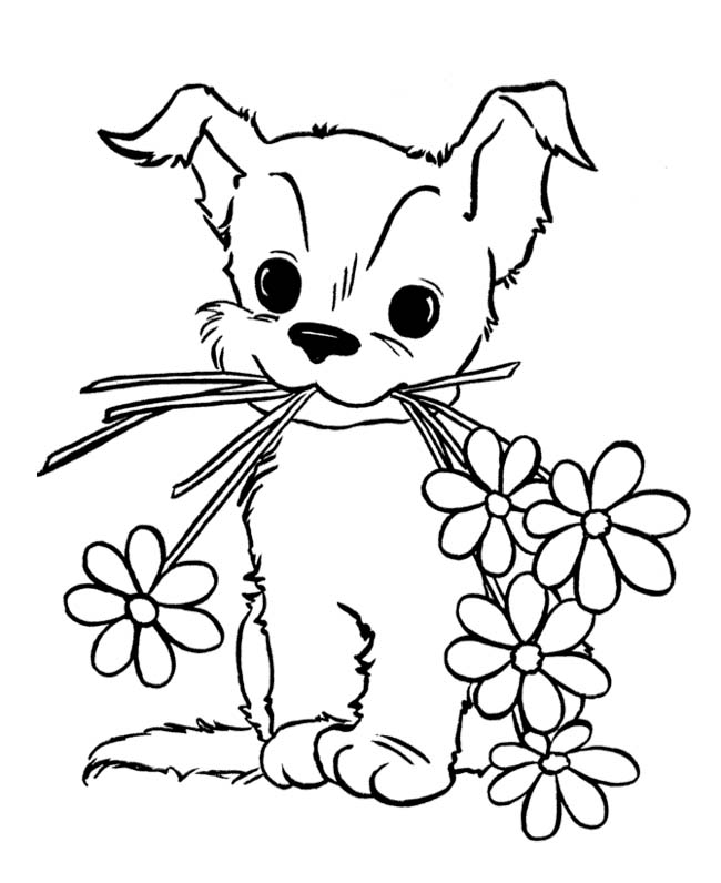 cute puppy coloring pages images - photo#12