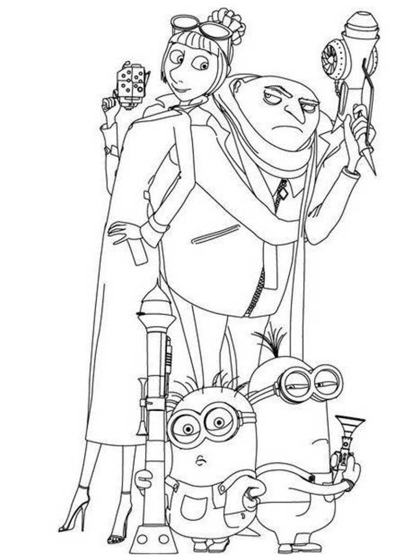 Printable coloring pages despicable me - Despicable Me Coloring Sheets