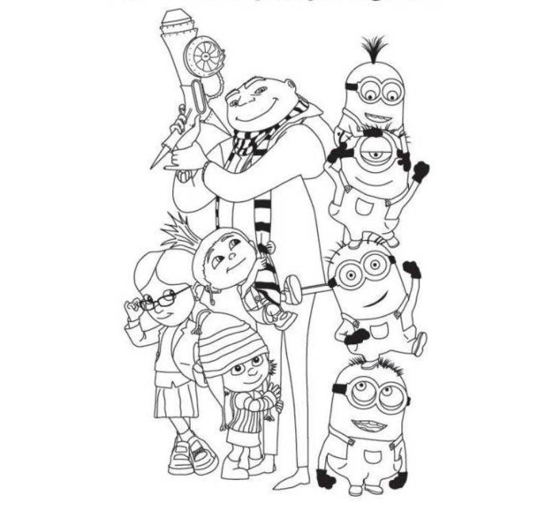 despicable me antonio coloring pages - photo#35