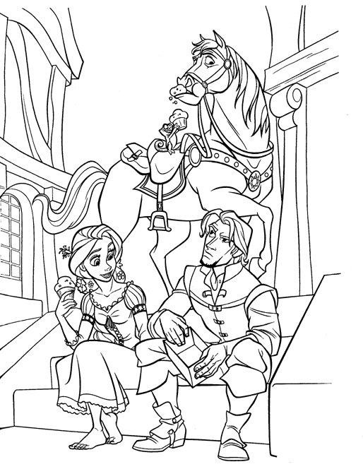 Disney Coloring Pages Tangled Coloring Pages