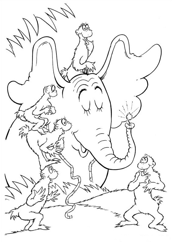 Dr Seuss Coloring Pages Printable Coloring Pages 57 Extraordinary ... | 788x561