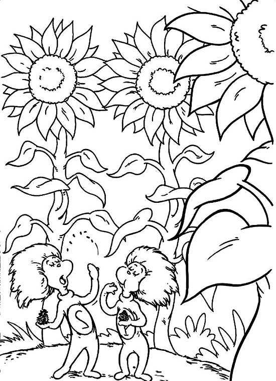 Dr seuss fish free colouring pages for Dr seuss printable coloring pages