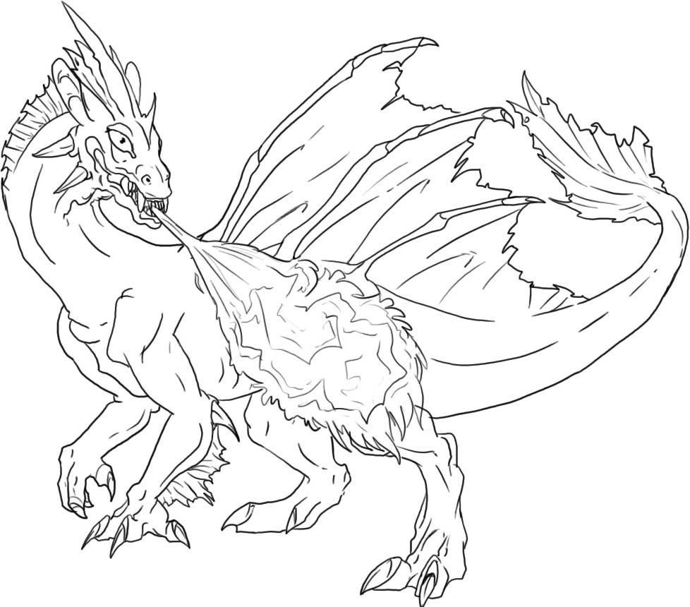 Scary Dragon Coloring Pages Print