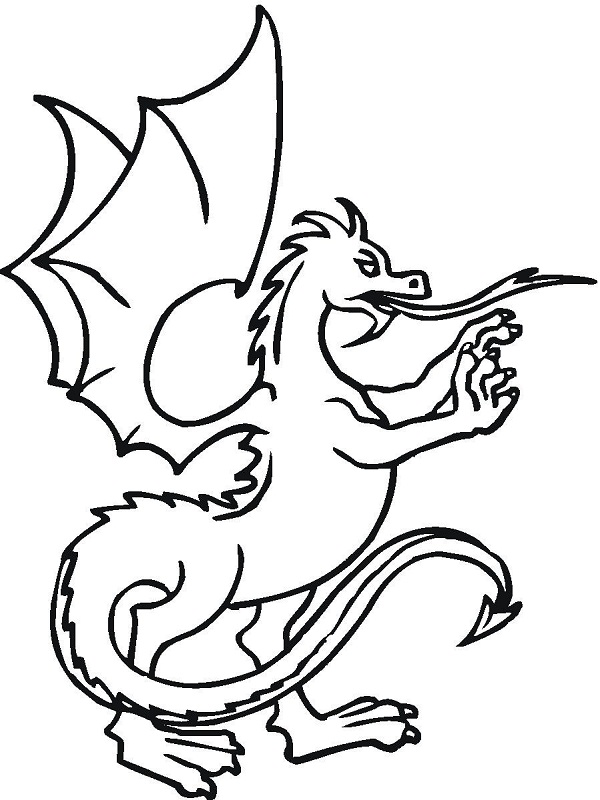 dragon coloring pages kids - Coloring Pages Dragons Kids