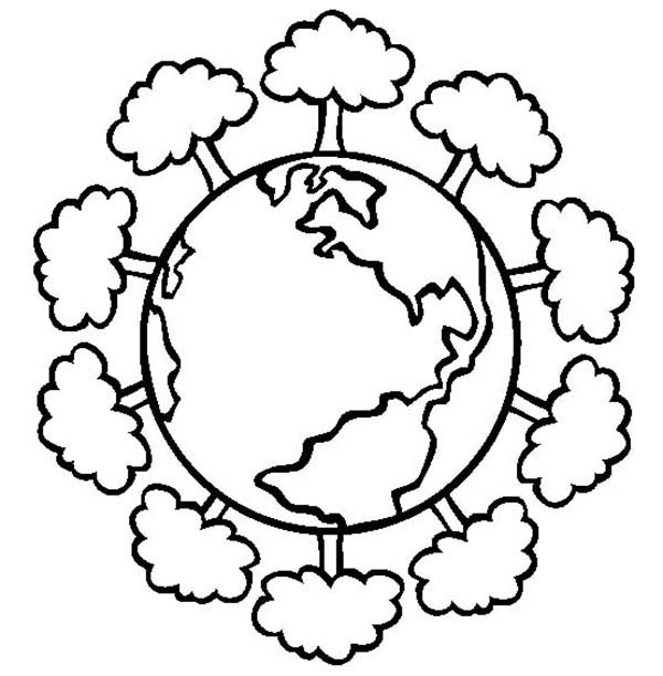 Earth Day Coloring Pages Pictures
