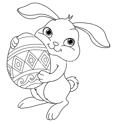 Printable Easter Bunny Coloring Pages Me