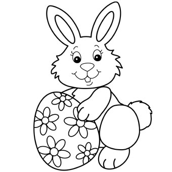 photo relating to Printable Easter Bunny referred to as Printable Easter Bunny Coloring Webpages