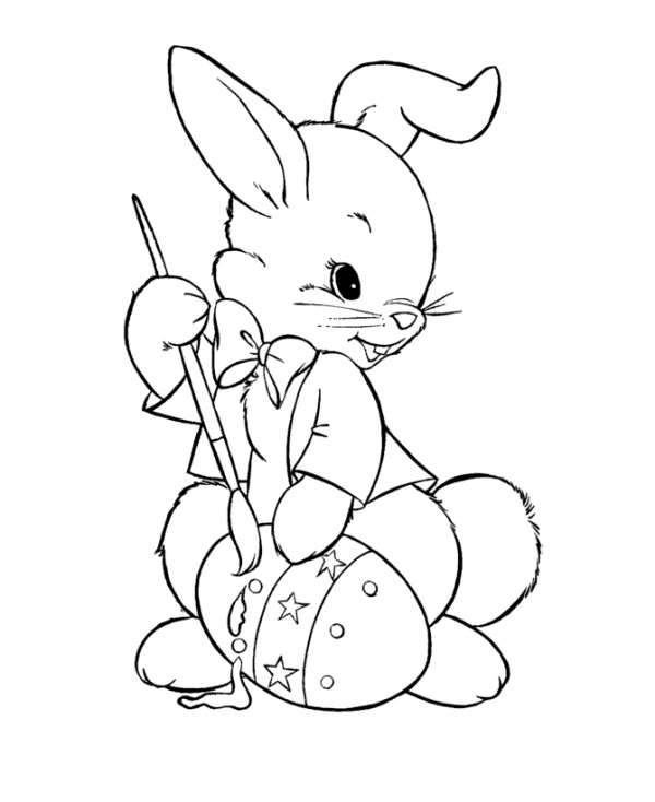 Printable Easter Bunny Coloring Pages | Coloring Me