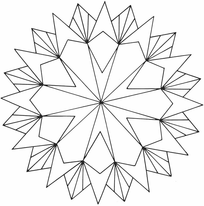 simple geometric coloring sheets