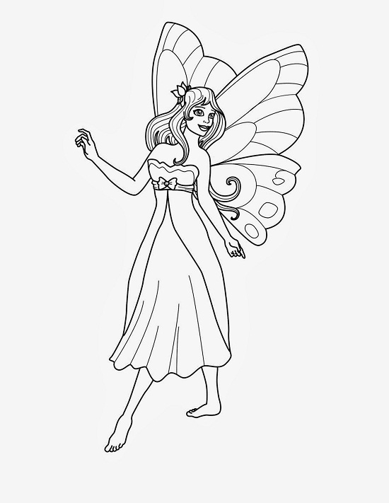 Printable Fairy Coloring Pages  Coloring Me