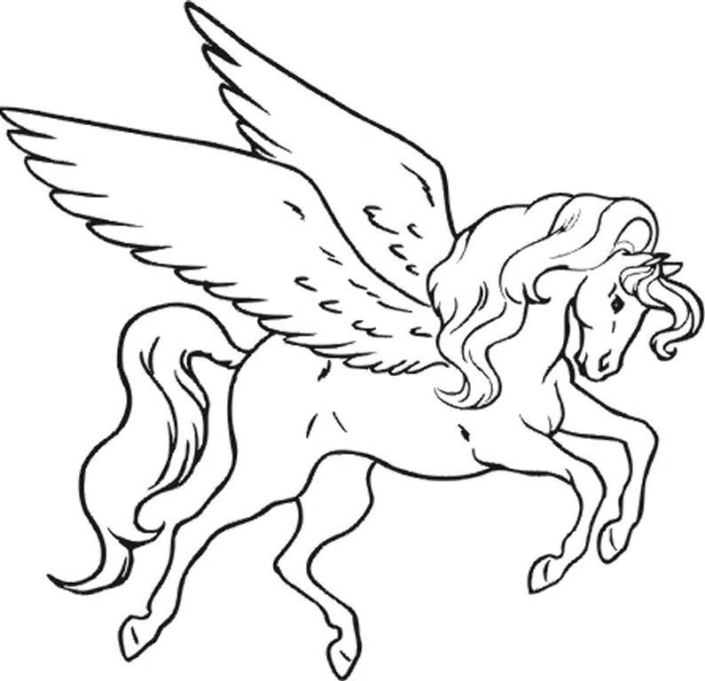unicorn coloring sheets