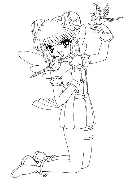 Manga characters free colouring pages for Anime character coloring pages