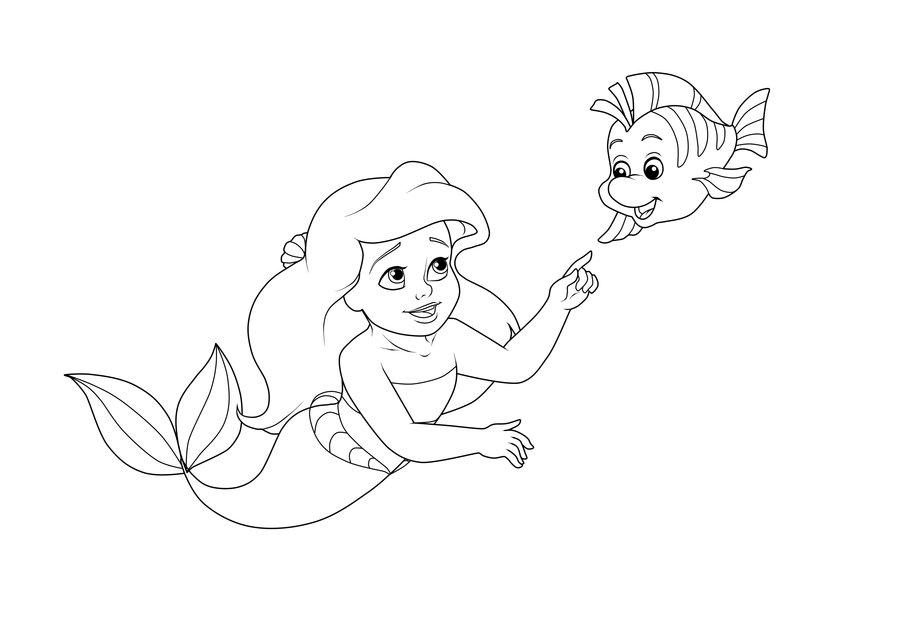 Ariel Coloring Www Bilderbeste Com