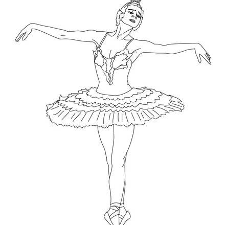 Free Barbie Ballerina Coloring Pages, Download Free Clip Art, Free ... | 440x440