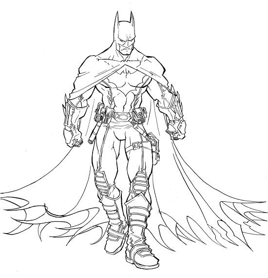 free coloring pages batman - Batman Pictures To Colour