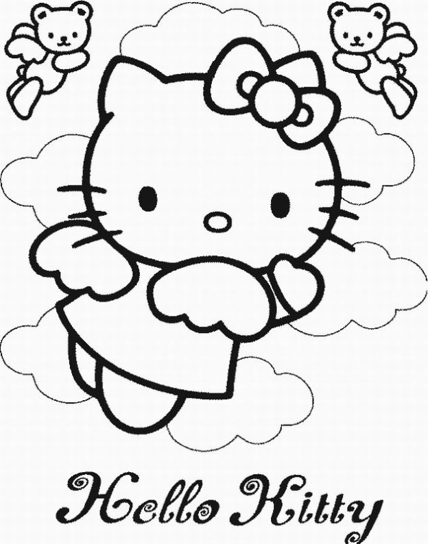 Printable Hello Kitty Coloring Pages Coloring Me Free Coloring Sheets For