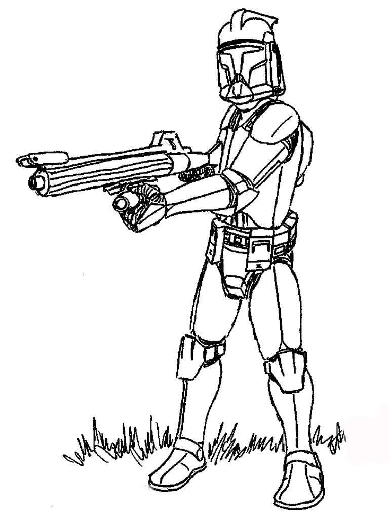 coloring pages and clone wars - photo#22