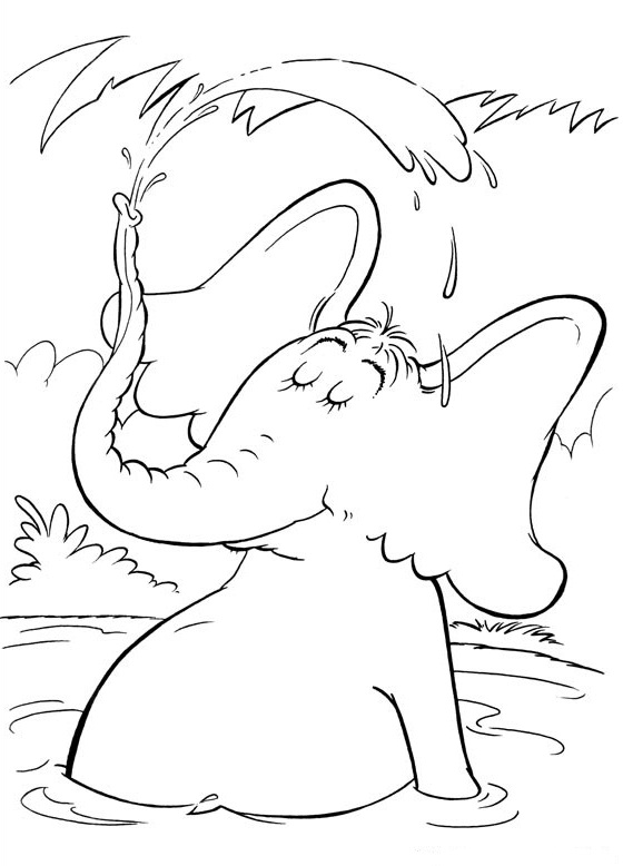 Fish coloring pages dr seuss character coloring pages for Dr seuss characters coloring pages