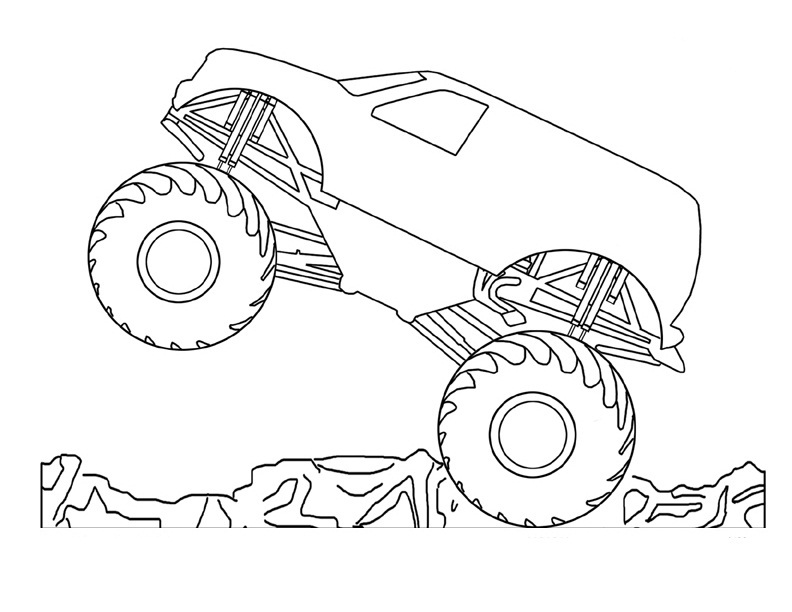 monster truck free coloring pages - photo#35
